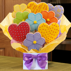 Hearts & Daisies Cookie Bouquet image