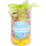 Confetti Sprinkles Fortune Cookie Cylinder - Set of 24