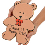 Thank You Beary Much Giant Sugar Cookie