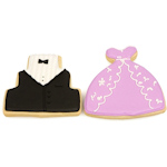 Gown & Tuxedo Wedding Cookie Party Favors