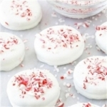 Candy Cane Sprinkle Oreo Cookie Favors