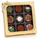 Chocolate Dipped Christmas Oreo Box