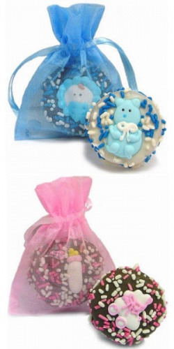 Chocolate Dipped Baby Oreos in Organza Bag image