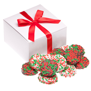 Holiday Holly Berry Decorated Chocolate Oreos image