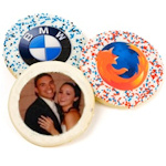 Personalized Round Photo Sugar Cookie Favors