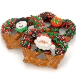Christmas Chocolate Dipped Pretzel Twist Favors