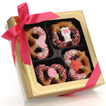 Valentine's Chocolate Pretzel Twists - Box of 12
