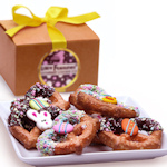Easter Chocolate Dipped Pretzel Twist Gift Box