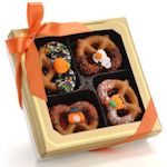 Halloween Chocolate Dipped Pretzel Twists - Box of 12