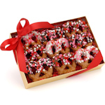 Valentine's Chocolate Pretzel Twists - Box of 9