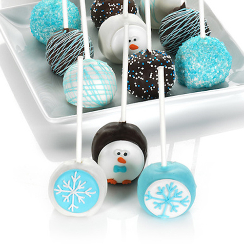 Winter Holiday Truffle Cake Pops Gift Box