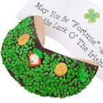 St. Patrick's Day Giant Fortune Cookie