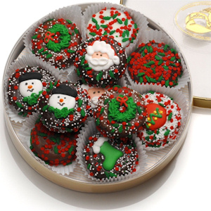 Chocolate Dipped Oreo Christmas Cookies image