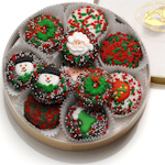 Chocolate Dipped Oreo Christmas Cookies
