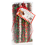 Christmas Chocolate Dipped Pretzel Wand Box