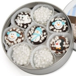 Snowman Chocolate Dipped Oreo Cookie Tin