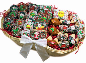 Chocolate Christmas Dessert Gift Basket image