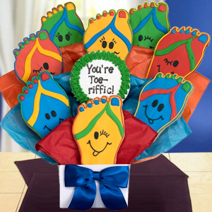 You're Toe-riffic Feet Cookie Bouquet image