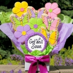 Flowers and Butterflies Get Well Cookie Bouquet