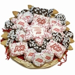 Snowflake Cookies Custom Business Logo Basket