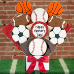 Father's Day Sports Ball Cookie Bouquet