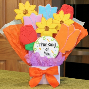 Thinking of You Flower Cookie Bouquet image