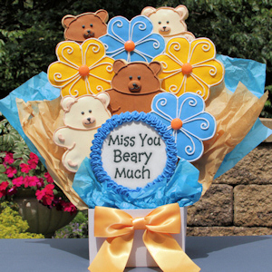 Miss You Beary Much Cookie Bouquet image