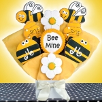 Bee Mine Decorated Cookie Bouquet