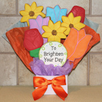 Flowers to Brighten Your Day Cookie Bouquet