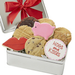 Hogs and Kisses Cookie Tin