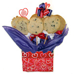 Valentine Heart Cookie Bouquet Tote