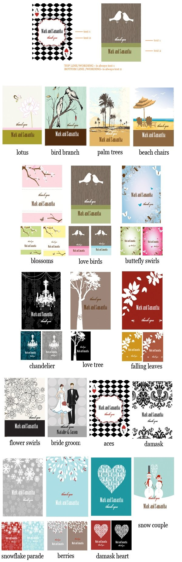 Elite Design Personalized Theme Playing Card Favors