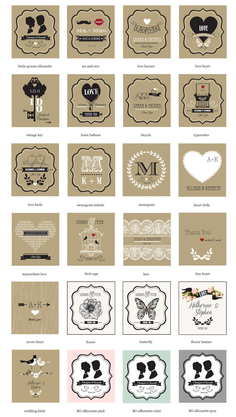 Personalized Vintage Style Wedding Favor Notebooks