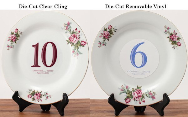 Classic Die Cut Table Number Clings 13 Colors
