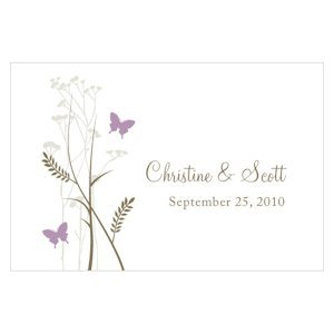 Romantic Butterfly Large Rectangular Tags (Set of 12) image