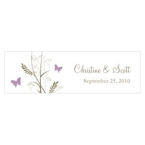 Romantic Butterfly Small Favor Tags (Set of 20) image