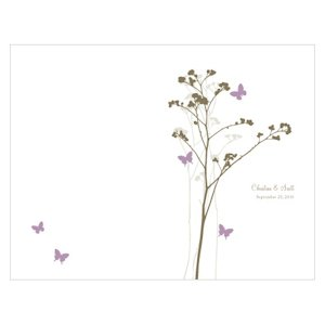Romantic Butterfly Wedding Programs (9 Colors) image