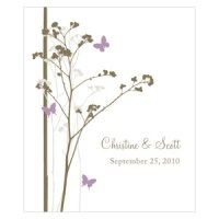 Romantic Butterfly Rectangular Favor Stickers