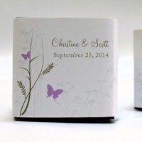Romantic Butterfly Favor Box Wrap (Set of 20)