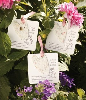 Personalized Seeded Heart Plantable Paper Favors (Set of 50) image