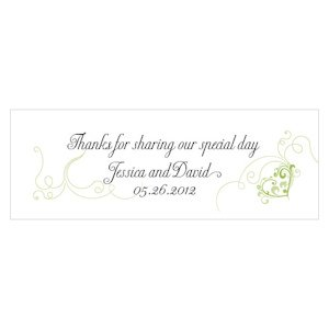 Heart Filigree Small Rectangular Tag (Set of 20) image