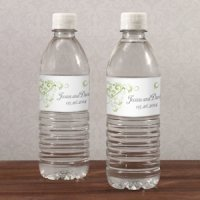 Heart Filigree Water Bottle Labels (Set of 10)