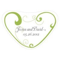 Heart Filigree Heart Container Sticker (11 Colors)