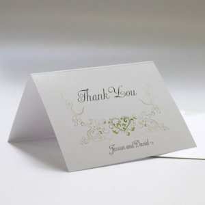Heart Filigree Thank You Cards (Set of 6 - 11 Colors) image