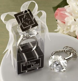 Crystal 'Diamond' Ring Keychain in Gift Box image