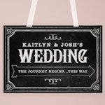 Chalkboard Print Directional Poster