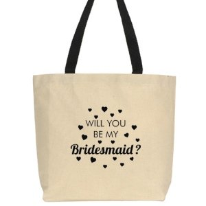 Will You Be My Bridesmaid Stylish Canvas Totes (Many Designs image