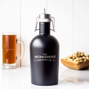 Personalized Black Stainless Steel Growler image