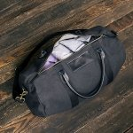 Personalized Canvas & Leather Duffle Bag (3 Colors)