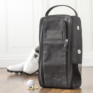 Personalized Waxed Canvas Golf Shoe Bag image